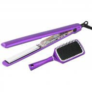Coffret fer à lisser C3 metallic purple + brosse paddle offerte